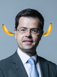 housing minister with bananas in his ears