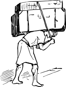 man under burden